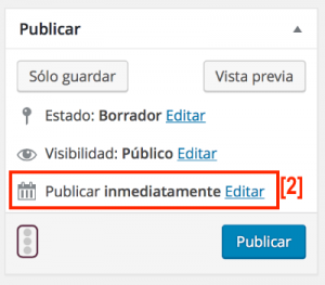 Programar un post en tu blog